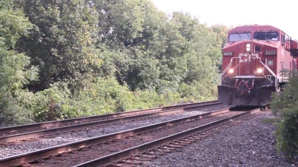 CP Train - Diesel Locomotive - GE ES44AC - Pass By Sound Effect