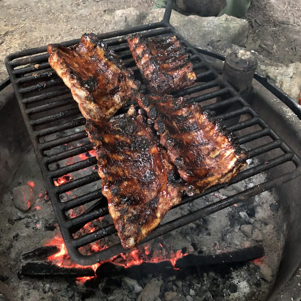 Ribs Cooking Over Fire - Meat Sizzle Sound Effect
